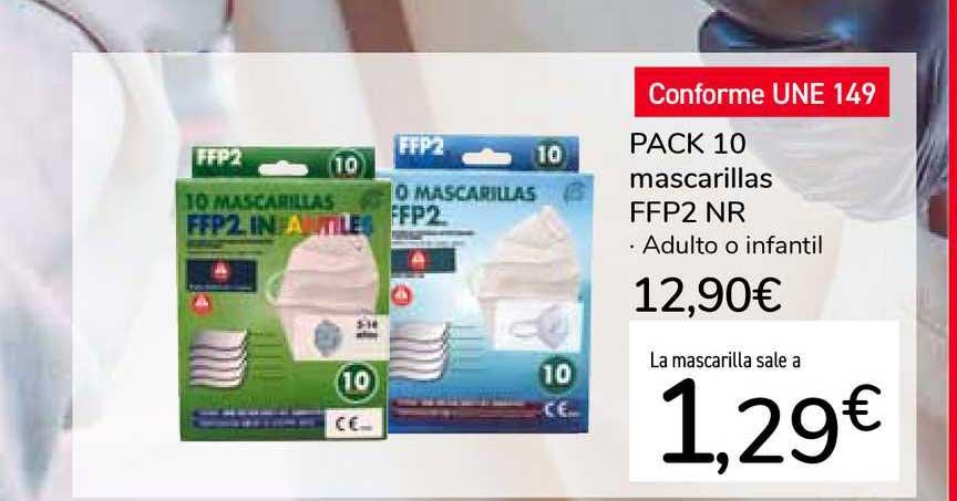 Carrefour Market Pack 10 Mascarillas FFP2 NR
