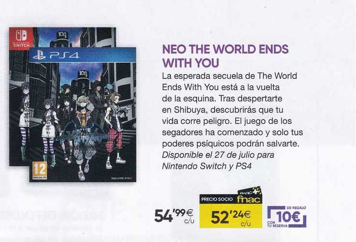 Fnac Neo The World Ends With You