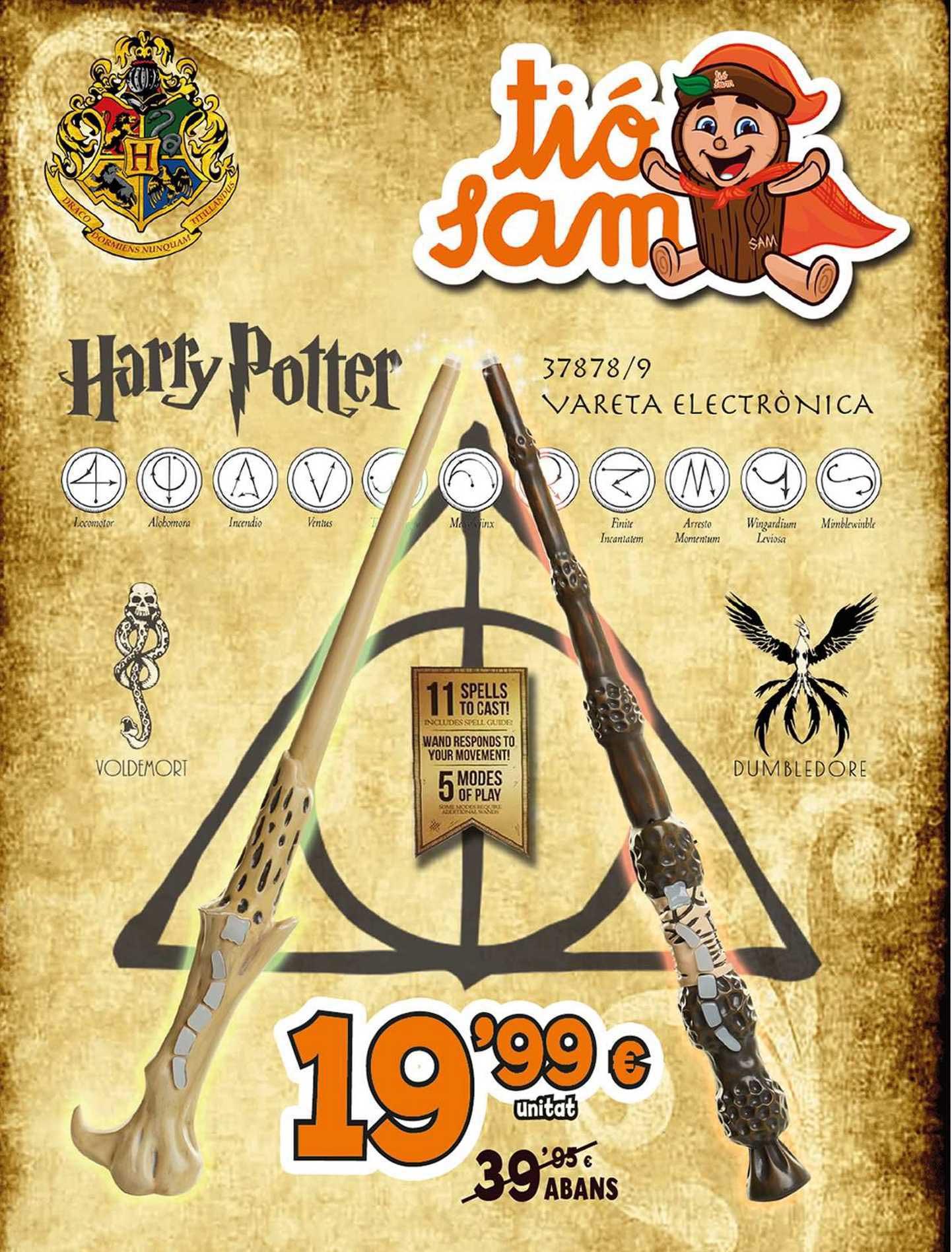 Tió Sam Vareta Electrònica Voldemort Dumbledore Harry Potter