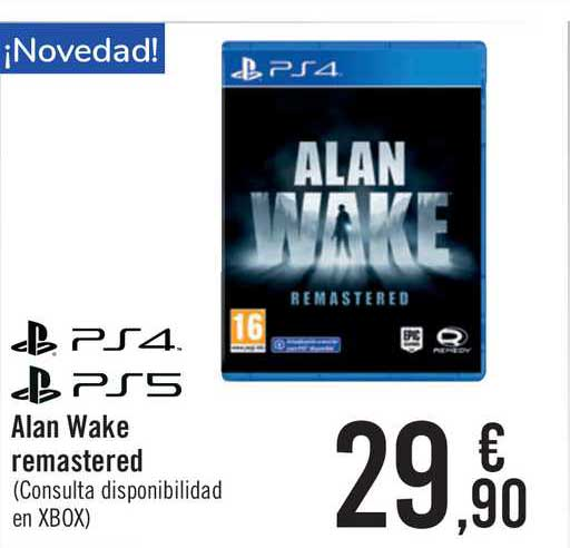 Carrefour Ps4 Ps5 Alan Wake Remastered