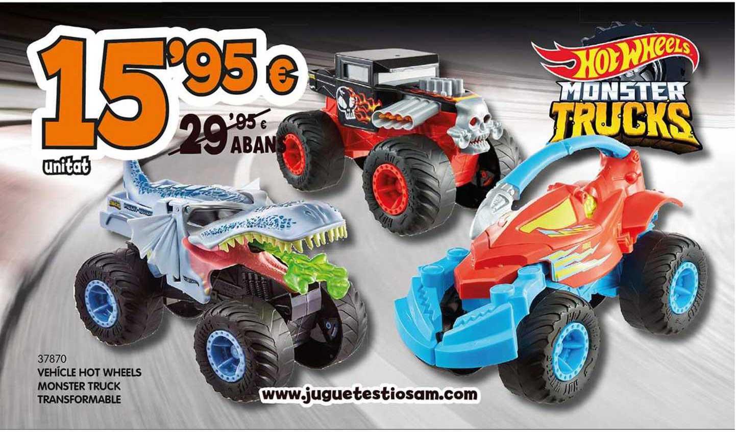 Tió Sam Vehícle Hot Wheels Monster Truck Transformable