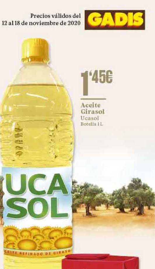 Gadis Aceite Girasol Ucasol Botella 1 L