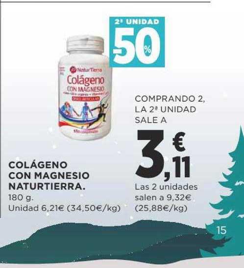 Supercor -50% 2a Unidad Colágeno Con Magnesio Naturtierra