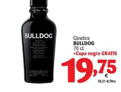 Alimerka Ginebra Bulldog 70 Cl + Copa Negra Gratis