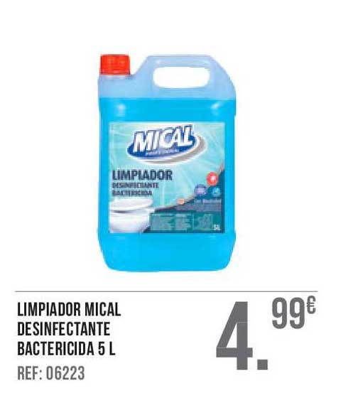 Gros Mercat Limpiador Mical Desinfectante Bactericida 5 L