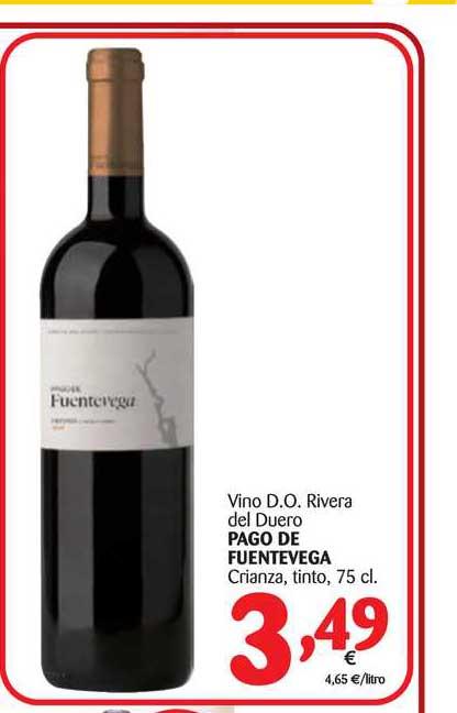 Alimerka Vino D.o. Ribera Del Duero Pago De Fuentevega 75 Cl