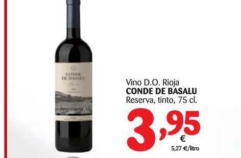 Alimerka Vino D.o. Rioja Conde De Basalu, 75 Cl