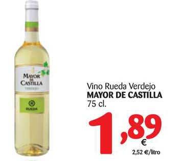 Alimerka Vino Rueda Verdejo Mayor De Castilla 75 Cl