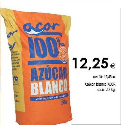 Cash Ifa Azúcar Blanco Acor Saco 20 Kg