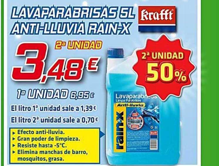 Aurgi Lavaparabrisas 5l Anti-lluvia Rain-x