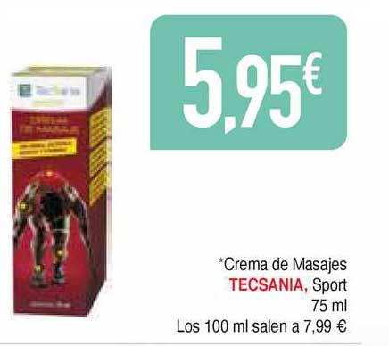 Masymas Crema De Masajes Tecsania Sport