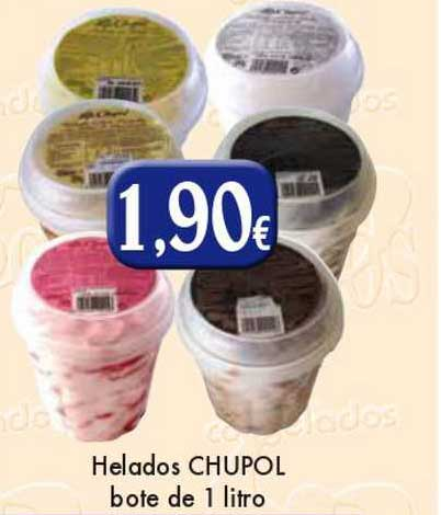 Congelados Copos Helados Chupol Bote De 1 Litro