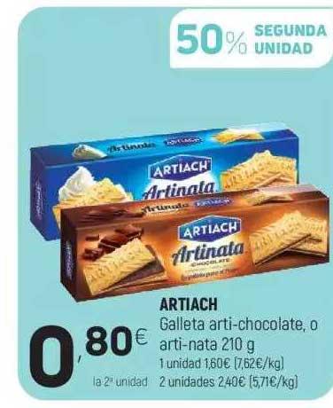 Coviran Artiach Galleta Arti-Chocolate, O Arti-Nata 210 G