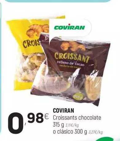 Coviran Coviran Croissants Chocolate 315 G O Clásico 300 G