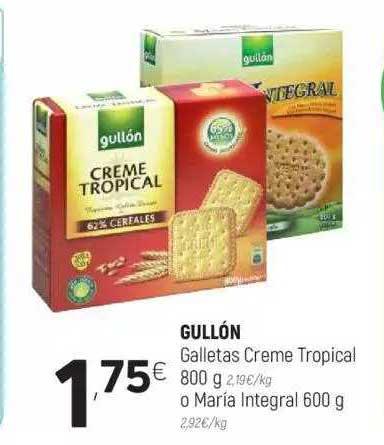 Coviran Gullón Galletas Creme Tropical 800 G O María Integral 600 G