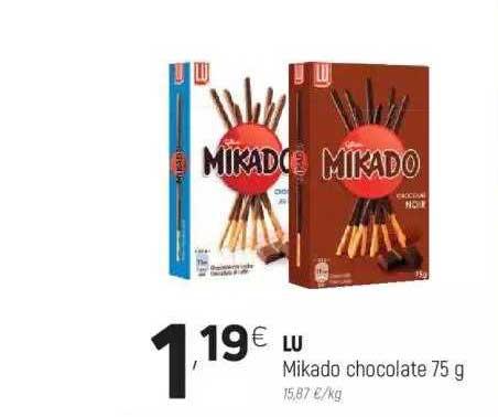 Coviran Lu Mikado Chocolate 75 G