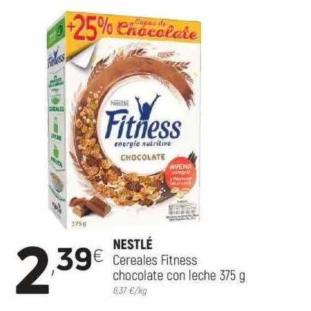 Coviran Nestlé Cereales Fitness Chocolate Con Leche 375 G