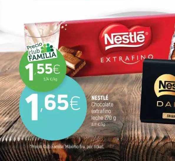 Coviran Nestlé Chocolate Extrafino Leche 270 G