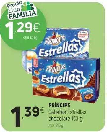 Coviran Príncipe Galletas Estrellas Chocolate 150 G