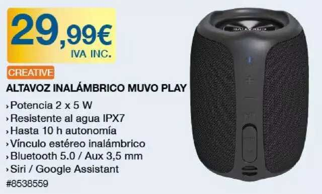Costco Creative Altavoz Inalámbrico Muvo Play