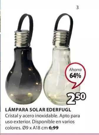 JYSK Lámpara Solar Ederfugl