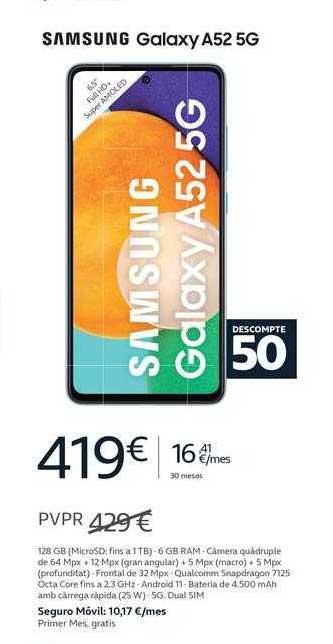 Movistar Samsung Galaxy A52 5g