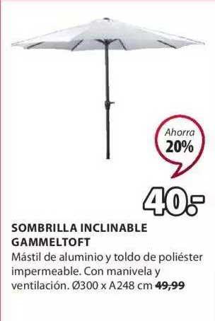 JYSK Sombrilla Inclinable Gammeltoft