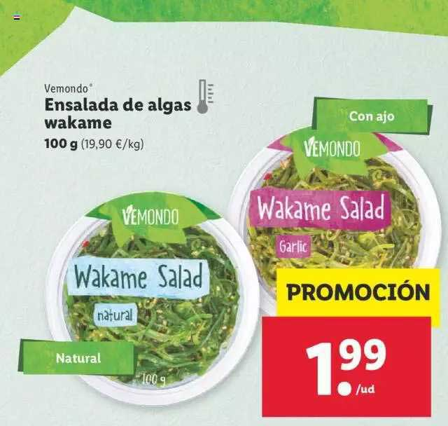 LIDL Vemondo Ensalada De Algas Wakame