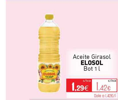 Cuevas Cash Aceite Girasol Elosol