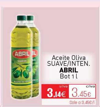 Cuevas Cash Aceite Oliva Suave-Inten Abril