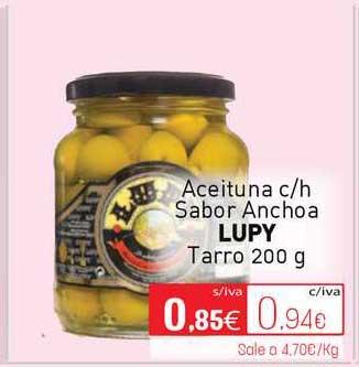 Cuevas Cash Aceituna C-H Sabor Anchoa Lupy Tarro