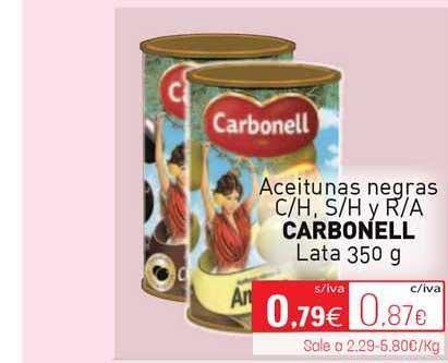 Cuevas Cash Aceitunas Negras C-H, S-H Y R-A Carbonell Lata