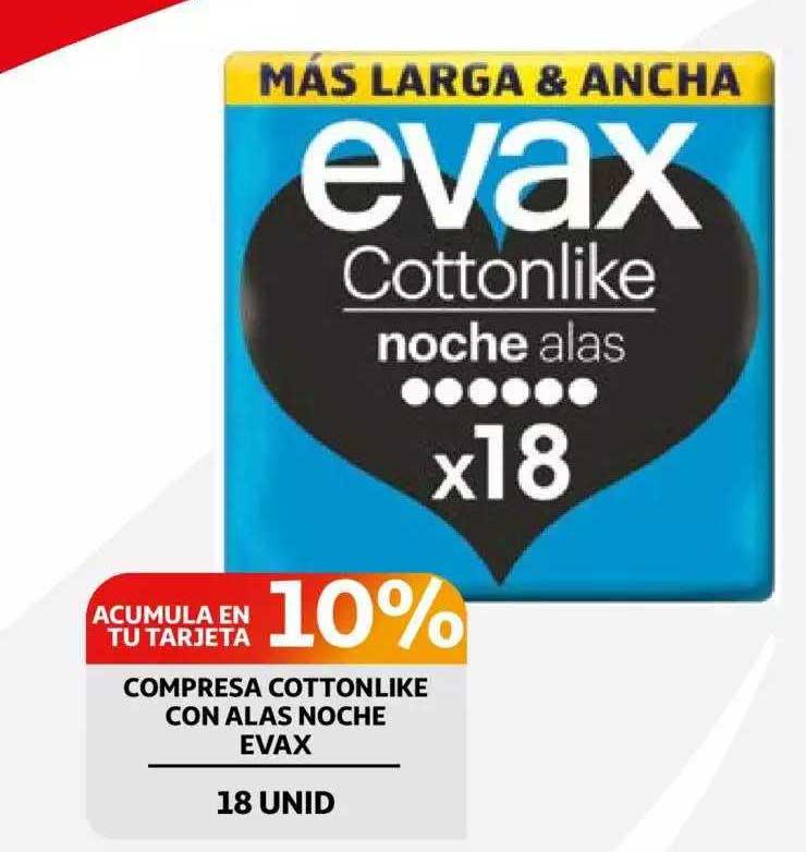 Alcampo Compresa Cottonlike Con Alas Noche Evax