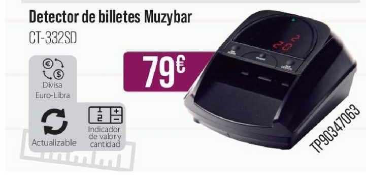 MR Micro Detector De Billetes Muzybar