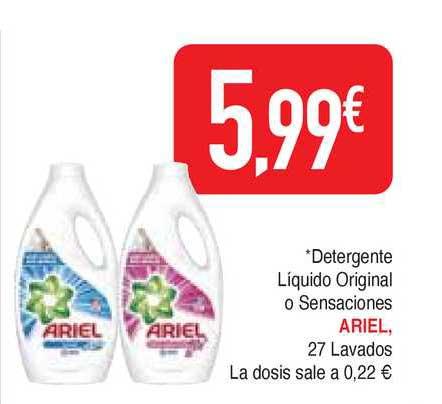 Masymas Detergente Líquido Original O Sensaciones Ariel