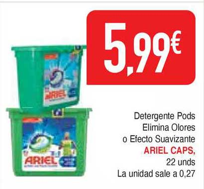 Masymas Detergente Pods Elimina Olores O Efecto Suavizante Ariel Caps