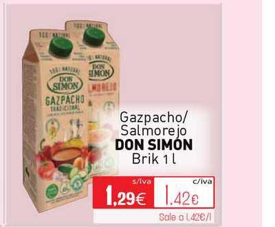 Cuevas Cash Gazpacho- Salmorejo Don Simon