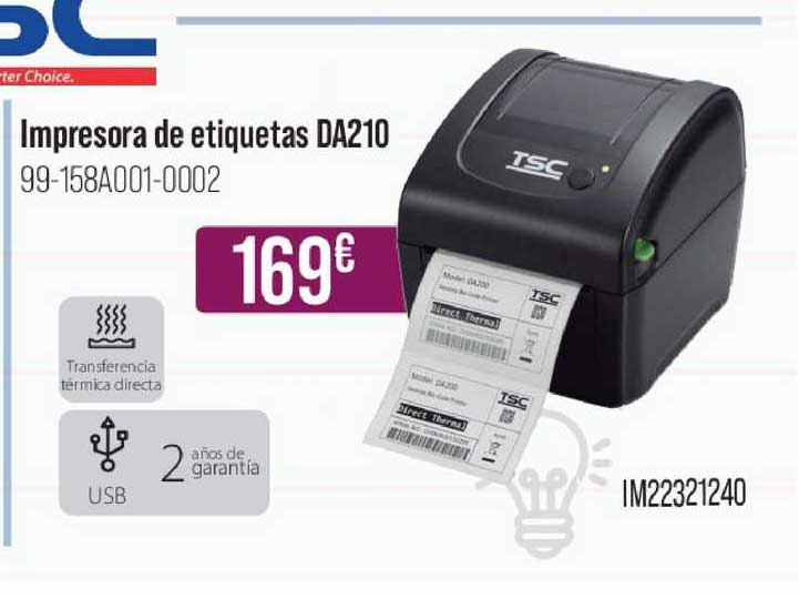 MR Micro Impresora De Etiquetas De210