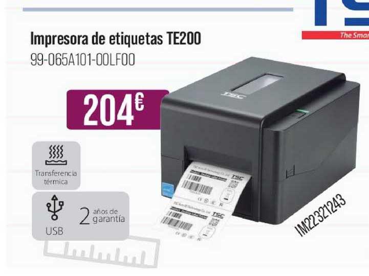 MR Micro Impresora De Etiquetas Te200