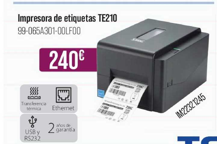 MR Micro Impresora De Etiquetas Te210