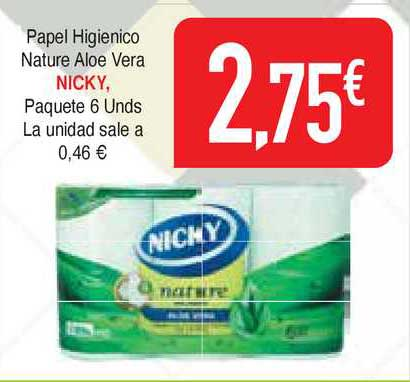 Masymas Papel Higienico Nature Aloe Vera Nicky