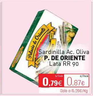 Cuevas Cash Sardinilla Ac. Oliva P. De Oriente Lata
