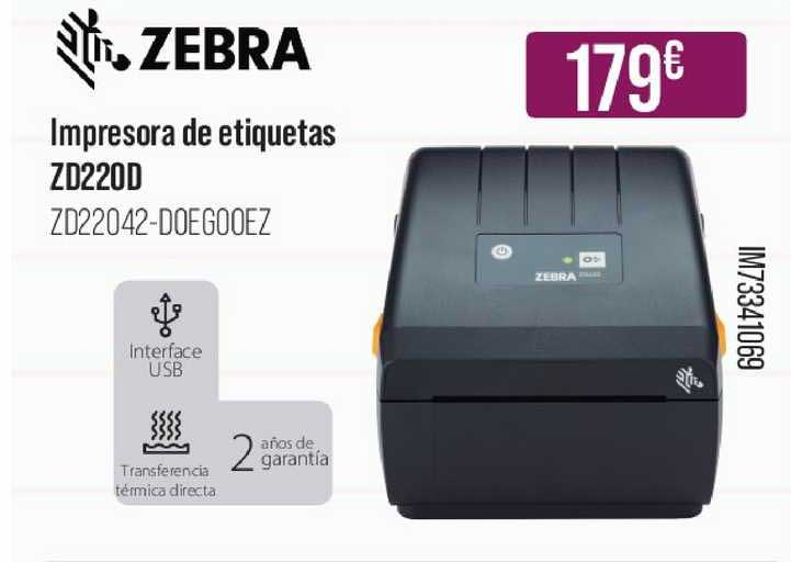 MR Micro Zebra Impresora De Etiquetas Zd220d