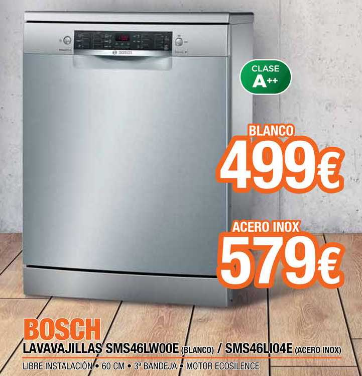 Expert Bosch Lavavajillas SMS46LW00E (Blanco) ∕ SMS46LI04E (Acero Inox)