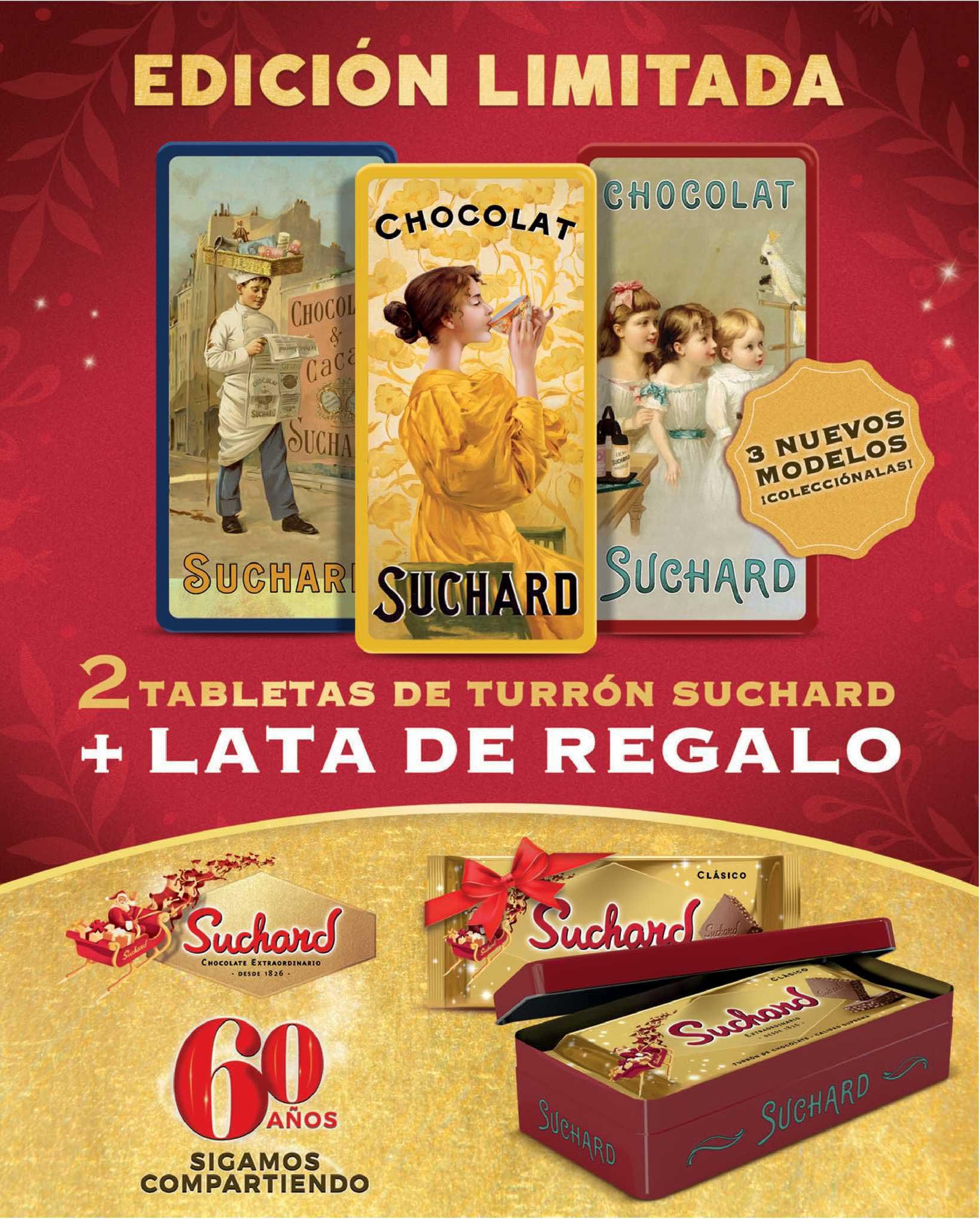 Carrefour Edición Limitada 2 Tabletas De Turrón Suchard + Lata De Regalo