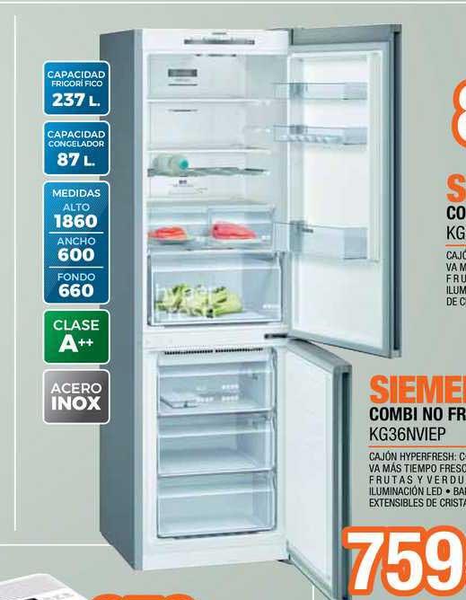 Expert Siemens Combi No Frost KG36NVIEP