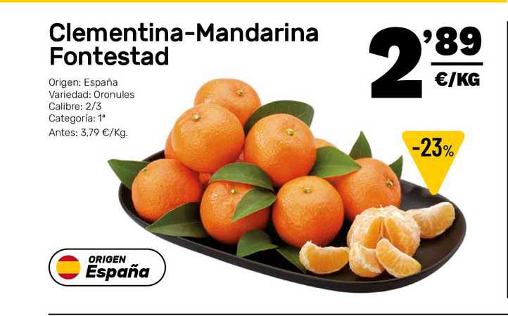 AhorraMas Clementina-mandarina Fontenstad
