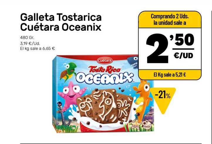 AhorraMas Galleta Tostarica Cuétara Ocenix