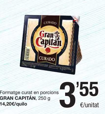 SPAR Fragadis Formatge Curat En Porcions Gran Capitán