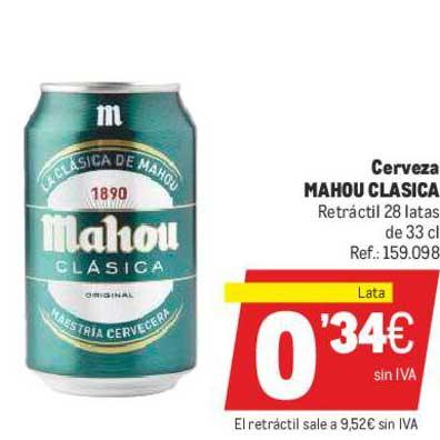 Makro Cerveza Mahou Clasica